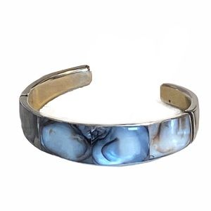 Made in the Philippines abalone cuff bracelet